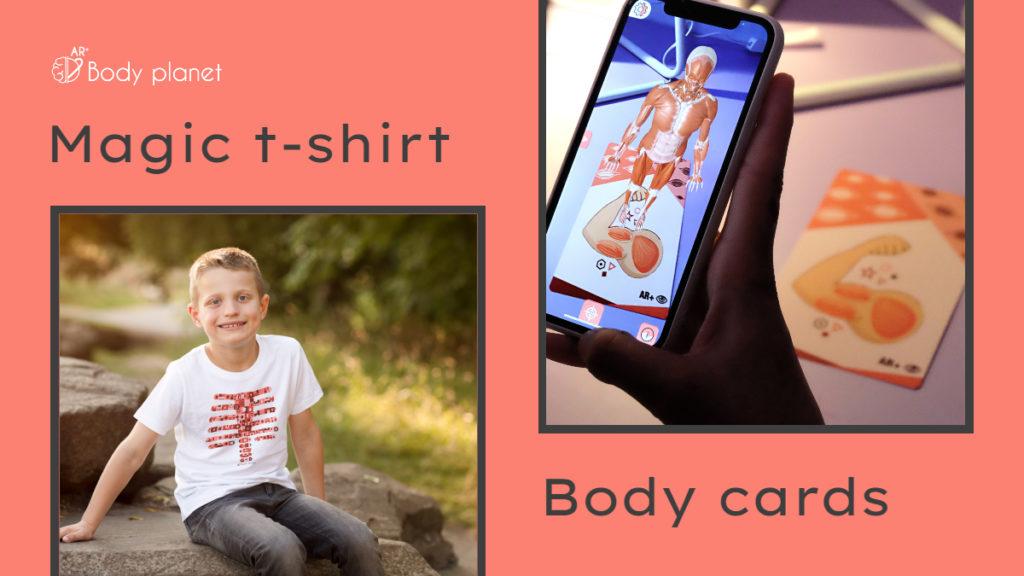 Camiseta mágica o body cards Body planet